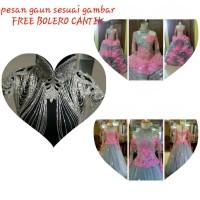 PROMO gaun pengantin wanita sesuai gambar FREE BOLERO CANTIK