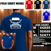 Polo Shirt Mobil TOYOTA AYGO SILUET TD/Baju Kaos Kerah Otomotif Mobil