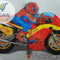 Balon Foil Spiderman / Motor Spiderman