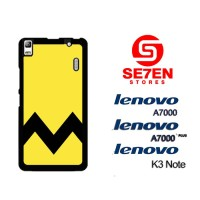 Casing HP Lenovo A7000, A7000 Plus, K3 Note Charlie Brown Yellow Chevr