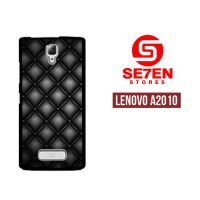 Casing HP Lenovo A2010 Black Quilted Leather Custom Hardcase Cover