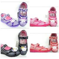 Sepatu Anak Hello Kitty Size 26-30/sepatu Abege Warna Motif Salur
