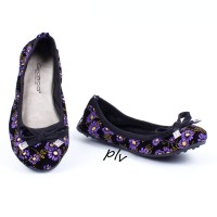 Fashion Wanita Sepatu Flat Shoes Murah Gratica BD09BG Ungu