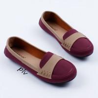 Fashion Wanita Sepatu Flat Shoes Flatshoes Murah Gratica DS20 Maroon