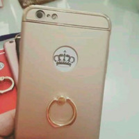 hardcase ipaky iring metal chrome iphone 6 plus iphone 7 plus oppo f1s