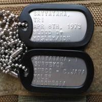 Jual Military ID Tag Kalung Dog Tag Murah