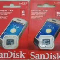 Memory microSD sandisk 16gb class 4