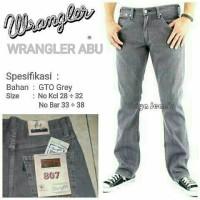 Jual Celana Jeans Wrangler Regular Fit Abu Murah