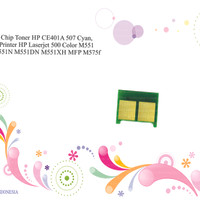 Chip Toner HP CE401A 507 Cyan, Printer HP Laserjet 500 Color M551 M551