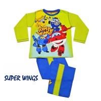 SUPER WINGS Setelan Baju rumah /piyama Anak Cowok Produk Anne Claire