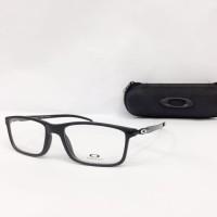 Promo Frame Kacamata Minus Oakley Tincan MD Pria Hitam logo Silver Ful