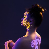 UV Body Paint (Cat UV untuk Body Painting, Lukisan, Dekorasi, dll)