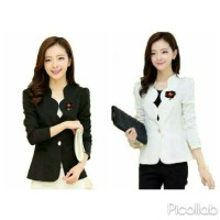 Fashion Women Ladies Atasan Blazer Wanita With Bross Long SLeeve Linda
