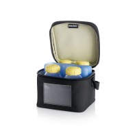 Medela Cooler Bag With 4 Breastmilk Bottles & 1 Coolling Element