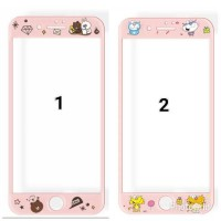 Screen Guard Tempered Glass Gambar Oppo F1 Plus / F1+ / R9 (Pink)