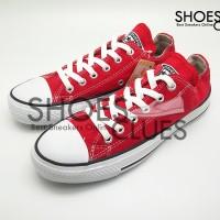 Sepatu Converse All Star Low Red Cowok / Cewek Warna Merah / Variasi