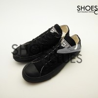Sepatu Converse All Star Low Full Black cowok/cewek warna hitam full