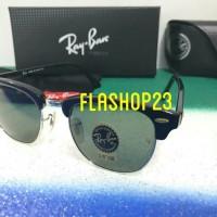 kacamata RAY*BAN clubmaster black list silver