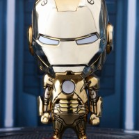 Hot Toys Cosbaby 284 Ironman Mark XXI Gold Chrome