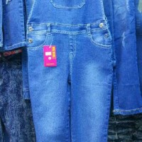Overall Jeans Anak Usia 7-15th Celana Werpak Anak Tanpa Inner Cowok