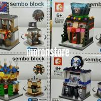 Lego Compatible Sembo SD 6528 Bursa Saham BMW Cocktail Magic Show LED