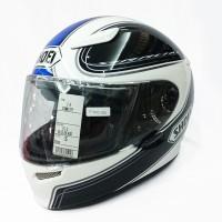 Helm Shoei Z6 Full face mewah Biru Putih Hitam