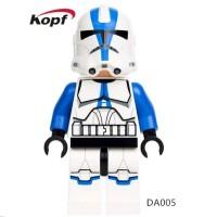 501st Legion Clone Trooper DA005 Star Wars Minifigure Lego KW Blue