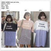 Mini Dress Santai Jumbo Big Size BIgsize Baju Wanita Korea Import Pink
