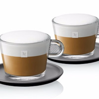 Jual SALE!!! Nespresso Glass Cappuccino Cups Set Murah