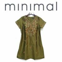 Minimal Green Shortsleeve Tunic Dress