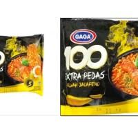 Mie Kuah Extra Pedas  Gaga 100 Extra Pedas Kuah Jalapeno Level 5