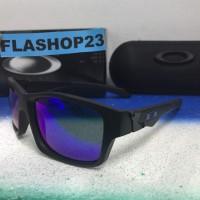 oakley jupiter squared black blue lensa biru polarized