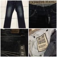 Jual Celana Jeans Express Slimfit Washed Dark Blue Denim Original Murah
