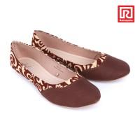 harga Sepatu Jj Flat Motif Batik Coklat (07910670) Tokopedia.com