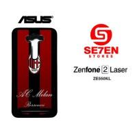 Casing HP Zenfone 2 Laser ZE550KL ac milan 3 Custom Hardcase Cover