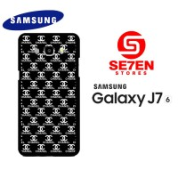 Casing HP Samsung J7 2016 black white channel Custom Hardcase Cover