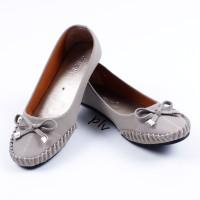 Fashion Wanita Sepatu Wanita Flat Shoes Murah Gratica DR51 Abu