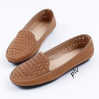 Fashion Wanita Sepatu Wanita Flat Shoes Flatshoes Gratica AL28 Moka