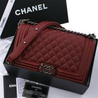 tas Chanel Boy Caviar 9003#blz