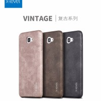 Samsung Galaxy J7 PRIME Leather Back Cover Hard Case X-Level vintage