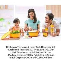 Tupperware kitchen on the move & table dispenser set