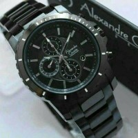 Jam Tangan Pria Original Alexandre Christie AC 6141 MC Full Black