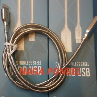 Jual STAINLESS STEEL LIGHTNING USB IPHONE KABEL DATA CHARGE IPHONE UNEED Murah