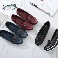 Sepatu GUCCI QUILT #3807-B88 Sepatu Wanita Wedges Cewek