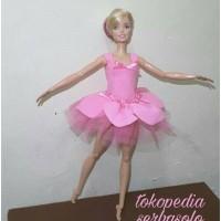 Jual baju ballet bunga boneka barbie handmade Murah