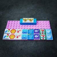 Lego Custom Printed / Pertamina, Garuda, Shell, Intel i7, Apple store