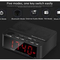 Speaker Mini Bluetooth & Radio FM & Jam Meja digital HandsFree Alarm