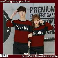 Baju couple you & me red (baju pasangan,baju kapel)