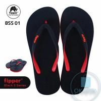 Sandal Fipper Black Series S - Black Red [BSS 01] - ORIGINAL