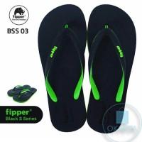 Sandal Fipper Black Series S - Black Green [BSS 03] - ORIGINAL